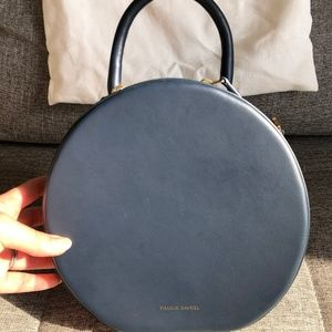 Authentic Mansur Gavriel Calf Circle Bag - Blu